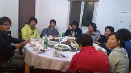 みんなで夕食