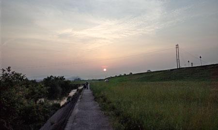 芦田川の日暮れ