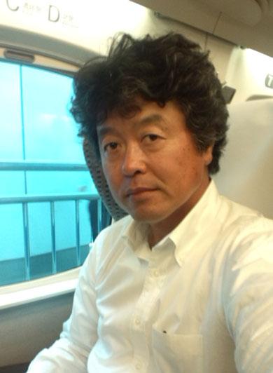 新幹線の車内にて